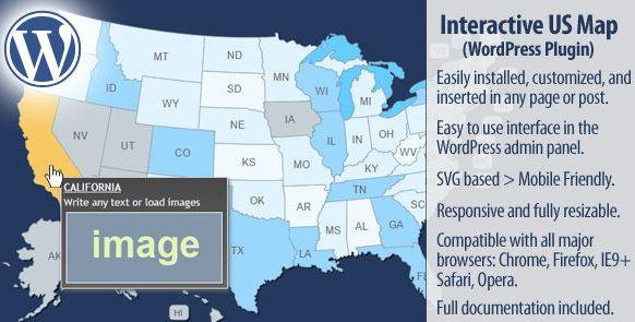 New Interactive US Map WordPress Plugin - GPL Plugins