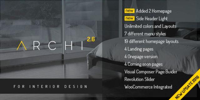Archi - Interior Design WordPress Theme - GPL Plugins